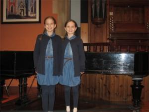 Aliyah and Mariah played beautifully in their piano recital at the end of November.