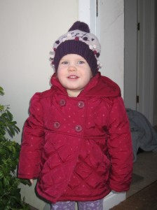 Love this one of Kaylah all bundled up.  We've had some lovely spring-like days but winter still feels like its hanging on for the moment.