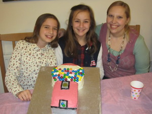 Aliyah turned 11 on February 5th.  We thank God for this girl who has such a diligent and loving heart.  Here she is with a few friends and the gum ball machine cake they made together.