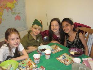 The kids had fun watching the Disney Robin Hood film, having a treasure hunt and eating too.