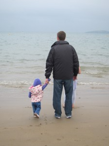 We did get a chance to hang out on Abersoch beach one afternoon.  It was freezing but everyone had fun.