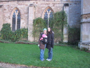 Our next visitors were my sister Amy and her baby Ellie in early December.  I hadn't seen Amy for over two years.  It was a very special visit.  Here we are at Lacock Abbey on a beautiful day.