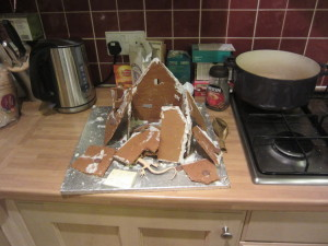 The gingerbread house making wasn't quite so successful this year! :-)