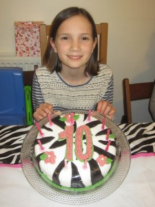 Mariah entered the world of double digits when she turned ten!