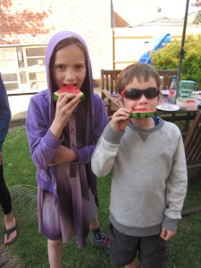 Another BBQ photo - watermelon, one of our family's favourites!