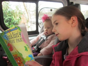 My children reading together . . .  always does my heart good to see this!