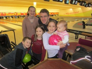 We went bowling for Peter's birthday - first time we'd done that with the kids.