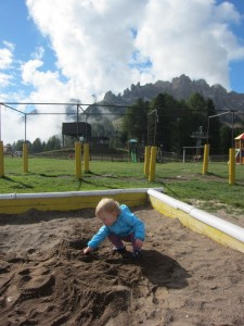 There was also a playground at the top of Ciampedie. Never been to a more scenic playground!
