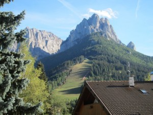 We stayed in the Val di Fassa in NE Italy at the foot of  the Dolomite mountains