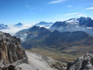 Here are some more views from the top of Sass Pordoi.
