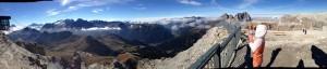 Here's a panoramic photo Peter took