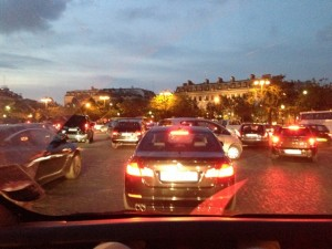 I have never in my life seen traffic on a roundabout like the one around the Arc!