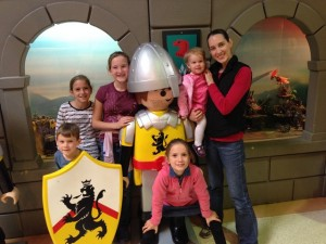 Next morning we went to Playmobil Land . . .a big building with SO much playmobil in it.  Fun!