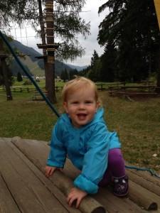 We had fun at various playgrounds too.