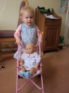 Kaylah loves her baby dolls