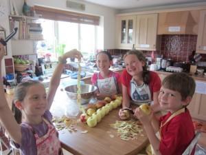 Making applesauce!