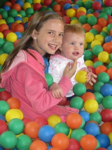 Kaylah loved the ball pit, as long as someone stayed near her