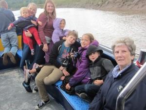 Here's Mum with all her grandchildren