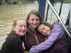 Hannah and Mariah with their cousin, Rebecca