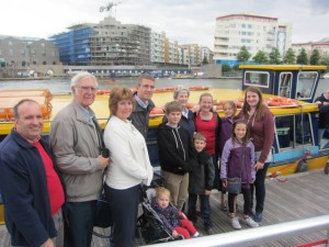 Peter's Mum turned 70 last month and we took her out for a special boat ride on the Avon River in Bristol with Peter's sisters' family as well