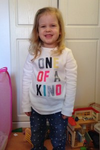 """We love our sweet Kaylah! She is so affectionate (she's often telling us - """"I love you!"""") and funny too."""