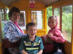 Train ride at Longleat - it was a great way to stay out of the rain.