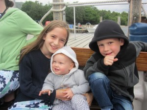 We took a boat ride on Lake Coniston too . . again, just dodging the rain drops. (this was before the heat wave arrived)