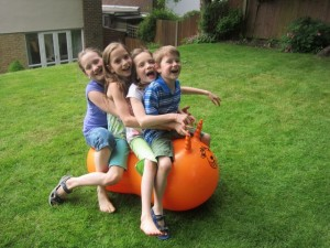 How many Meadlings can fit on the bouncy toy?