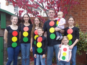 We went dressed as traffic lights for our church's Light Party! The kids and I helped with the planning and we were thankful that it seemed a success!