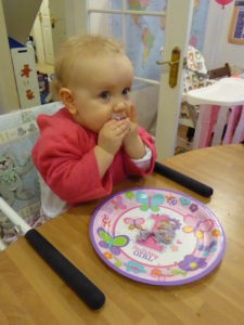 Jessah wasn't too bothered about opening her presents but she made up for it in how much she enjoyed eating her cake!